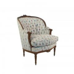 1880s French Fruitwood Louis XVI Style Bergere Chair - 1719792