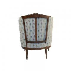 1880s French Fruitwood Louis XVI Style Bergere Chair - 1719797