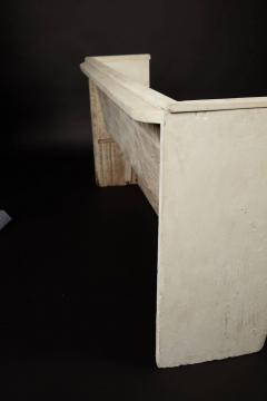 1890s White Washed Church Pew - 95886
