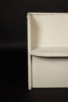 1890s White Washed Church Pew - 95887