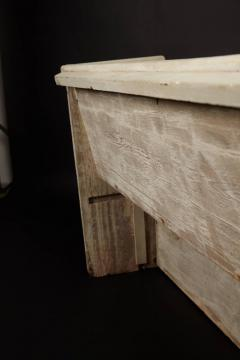 1890s White Washed Church Pew - 95890