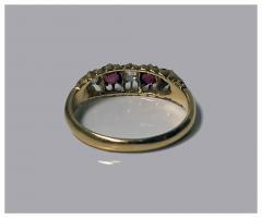 18K Diamond Ruby Ring C 1900 - 418933