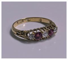 18K Diamond Ruby Ring C 1900 - 418937