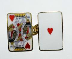 18K Gold Card Cufflinks - 1162806