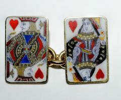 18K Gold Card Cufflinks - 1162807