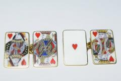 18K Gold Card Cufflinks - 1162808