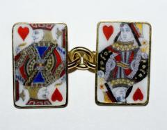 18K Gold Card Cufflinks - 1162809