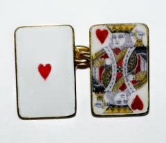 18K Gold Card Cufflinks - 1162810