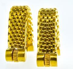 18K Gold Cufflinks circa 1960 - 1201252