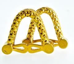 18K Gold Cufflinks circa 1960 - 1201253