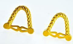18K Gold Cufflinks circa 1960 - 1201255