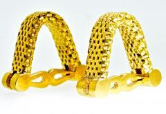 18K Gold Cufflinks circa 1960 - 1201259