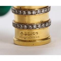 18K Gold Diamonds and Malachite Cane Walking Stick Handle by Asprey London - 1111037