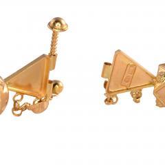 18K Gold Fancy Beaded Bangle Bracelet - 2007465