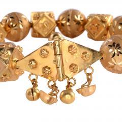 18K Gold Fancy Beaded Bangle Bracelet - 2007468