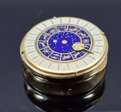 18K Gold Guilloche Enamel Astrological Pill Box - 304785