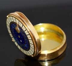 18K Gold Guilloche Enamel Astrological Pill Box - 304786