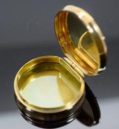 18K Gold Guilloche Enamel Astrological Pill Box - 304788