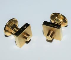 18K YG Screw and Nut Cufflinks - 1697251
