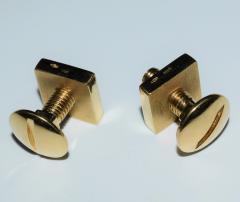 18K YG Screw and Nut Cufflinks - 1697252