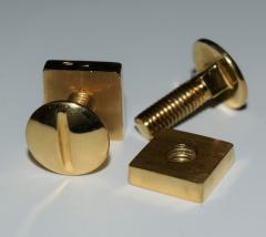 18K YG Screw and Nut Cufflinks - 1697253