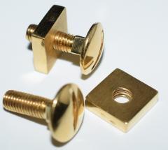 18K YG Screw and Nut Cufflinks - 1697254