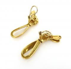 18KT GOLD TIFFANY RIBBON EARRINGS - 1092551