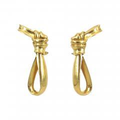 18KT GOLD TIFFANY RIBBON EARRINGS - 1093515