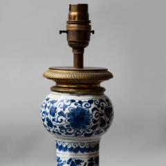 18TH CENTURY DELFT BOTTLE VASE CONVERTED TO A LAMP - 1834848