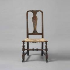 Early Queen Anne Grain Painted Spanish Foot Side Chair c 1740 1750 - 6067