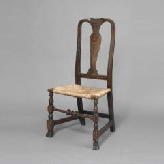 Early Queen Anne Grain Painted Spanish Foot Side Chair c 1740 1750 - 1109
