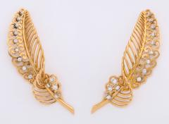 18k Gold Diamond Earrings - 670654