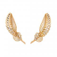 18k Gold Diamond Earrings - 672032