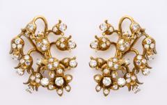 18k Gold Diamond Earrings - 1099641