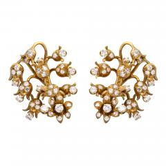 18k Gold Diamond Earrings - 1101546