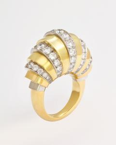 18k Gold Diamond Ring French Made - 305391
