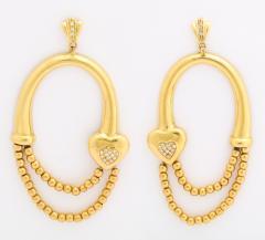 18k drop hoop earrings - 1737574