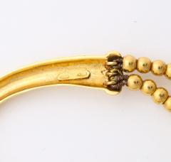 18k drop hoop earrings - 1737576