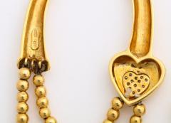 18k drop hoop earrings - 1737577