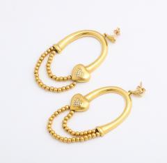 18k drop hoop earrings - 1737578