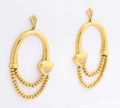 18k drop hoop earrings - 1737579