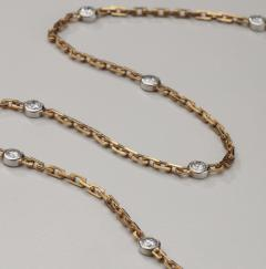 18kt White Yellow Gold Chain with Diamonds - 1519567