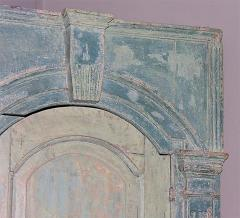 18th C English Blue Painted Corner Cupboard - 266849