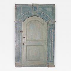 18th C English Blue Painted Corner Cupboard - 267668