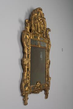18th C French R gence Carved Giltwood Mirror - 522275