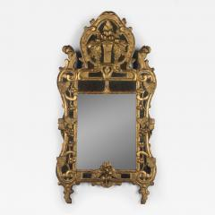 18th C French R gence Carved Giltwood Mirror - 524160