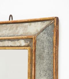 18th C Gold Leaf Mirrored Framed Mirror with Original Glass Lombardy Italy - 1050992