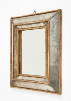 18th C Gold Leaf Mirrored Framed Mirror with Original Glass Lombardy Italy - 1050994