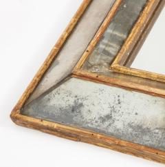 18th C Gold Leaf Mirrored Framed Mirror with Original Glass Lombardy Italy - 1050995