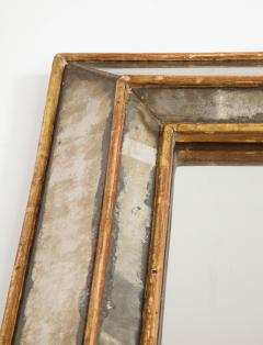 18th C Gold Leaf Mirrored Framed Mirror with Original Glass Lombardy Italy - 1050996